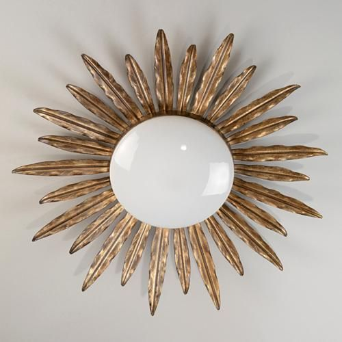 Vaughan Designs Sunburst Flush Ceiling Light 24 75 Diam X 3 5 D