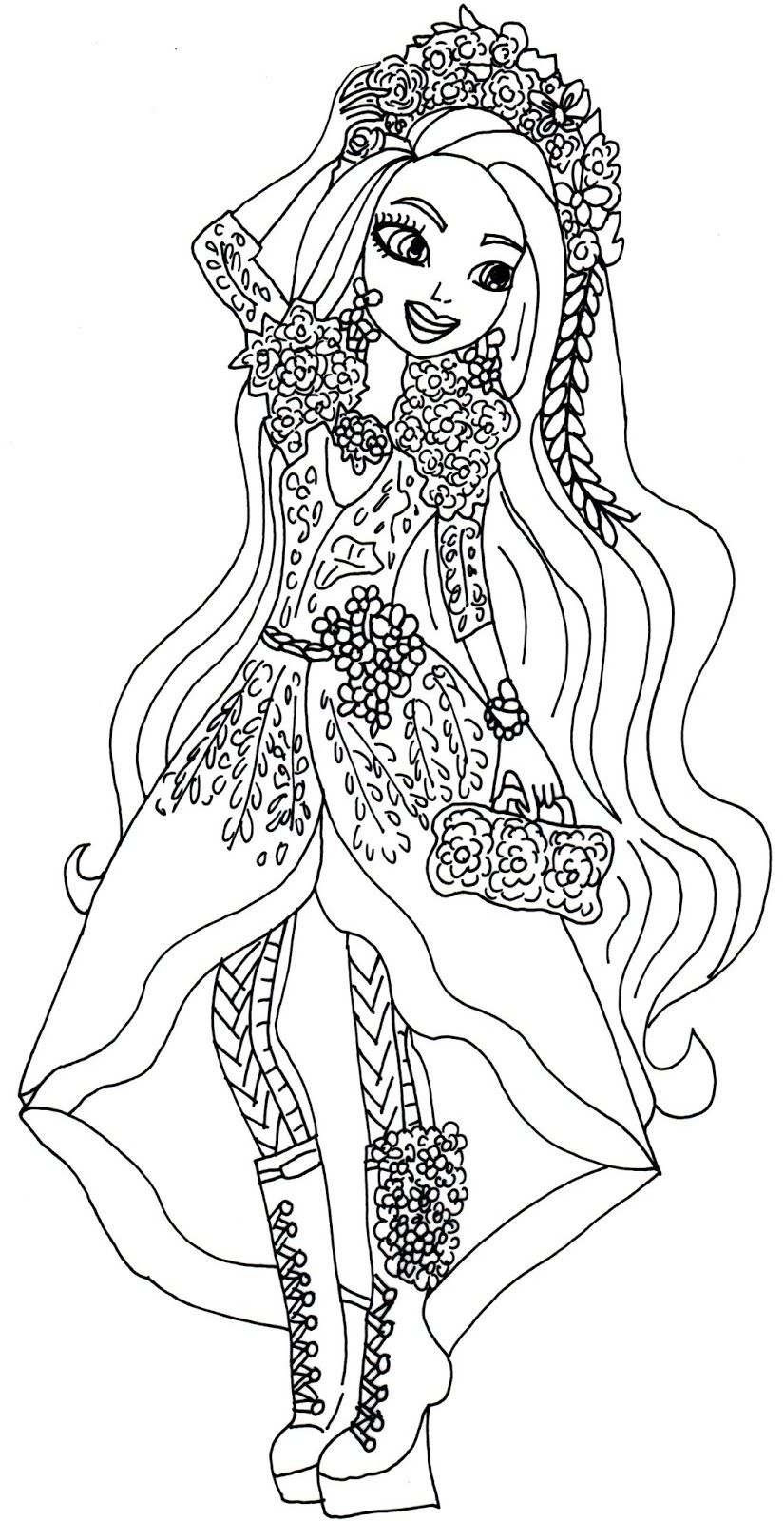 Spring Unsprung Holly O Hair Ever After High Coloring Page Jpg
