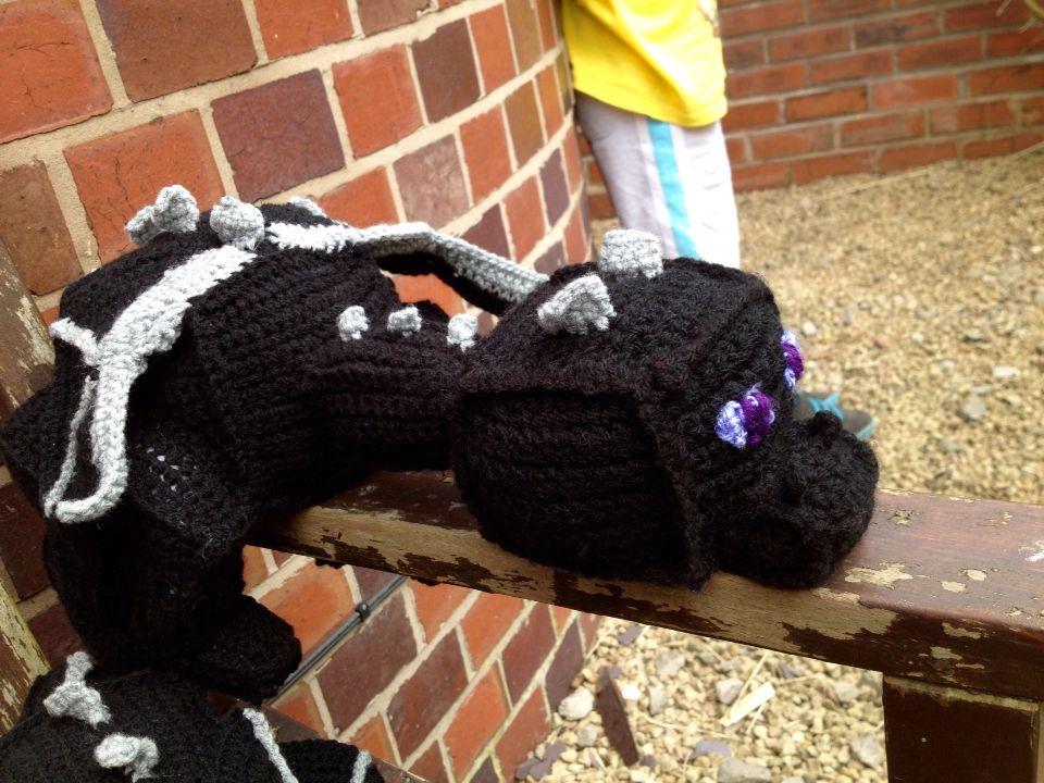 Minecraft inspired crochet Enderdragon. | Minecraft | Pinterest