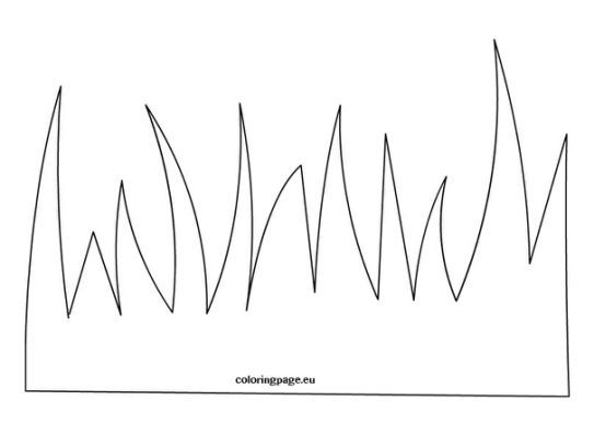 grass template Colouring Pages   Quiet book patterns ...