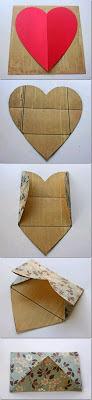 milleideeperunafesta: Busta a forma di cuore