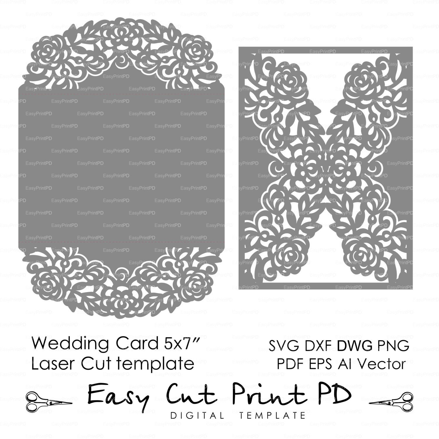 50% Wedding invitation Pattern Card 5*7\