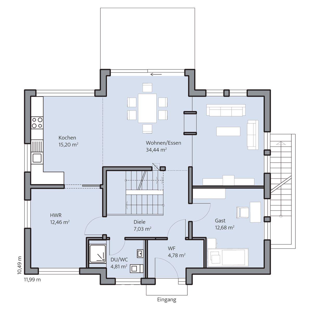 Haus-Frey_Grundriss_EG_bemasst_col16-hg.jpg 1.200×1.200 Pixel ...