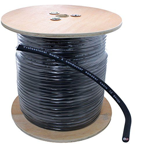 500 Ft Spool Of Pro Audio Pa 12 Gauge Awg 2 Conductor Speaker Wire Black Speaker Wire Pro Audio Powered Speakers