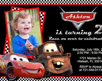 disney cars invites