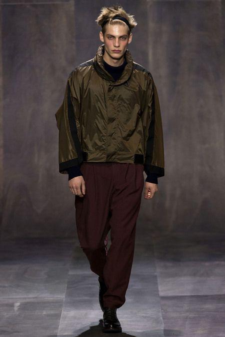Look 14 Damir Doma Fall 2013 Menswear #burgundy