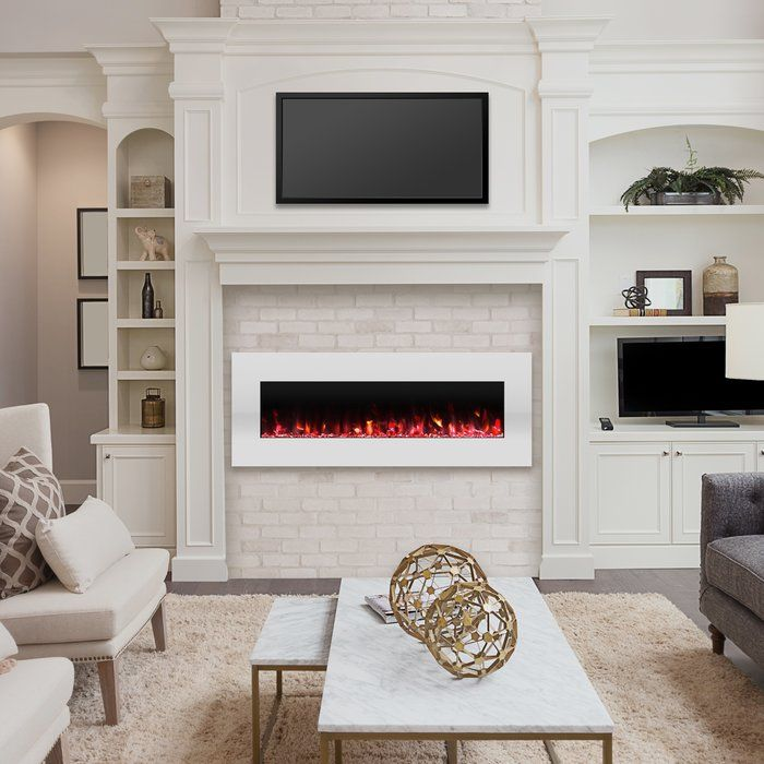 Lockport Pearl Wall Mounted Electric Fireplace In 2019