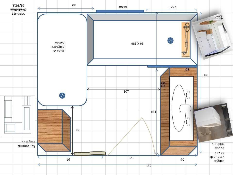 Le Plan De La Salle De Bain Renovee Dessine Par Une Amie Cette Fois Salle De Bain Petite Salle De Bain Plan Salle De Bain Et Salle De Bain 4m2