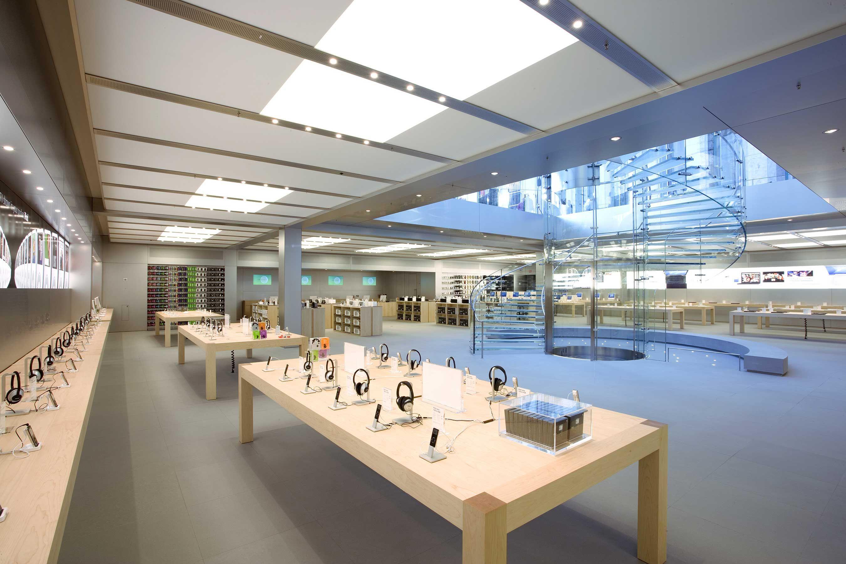 Leaked renderings of Apple Campus 2 interior depict futuristic Apple Store like design