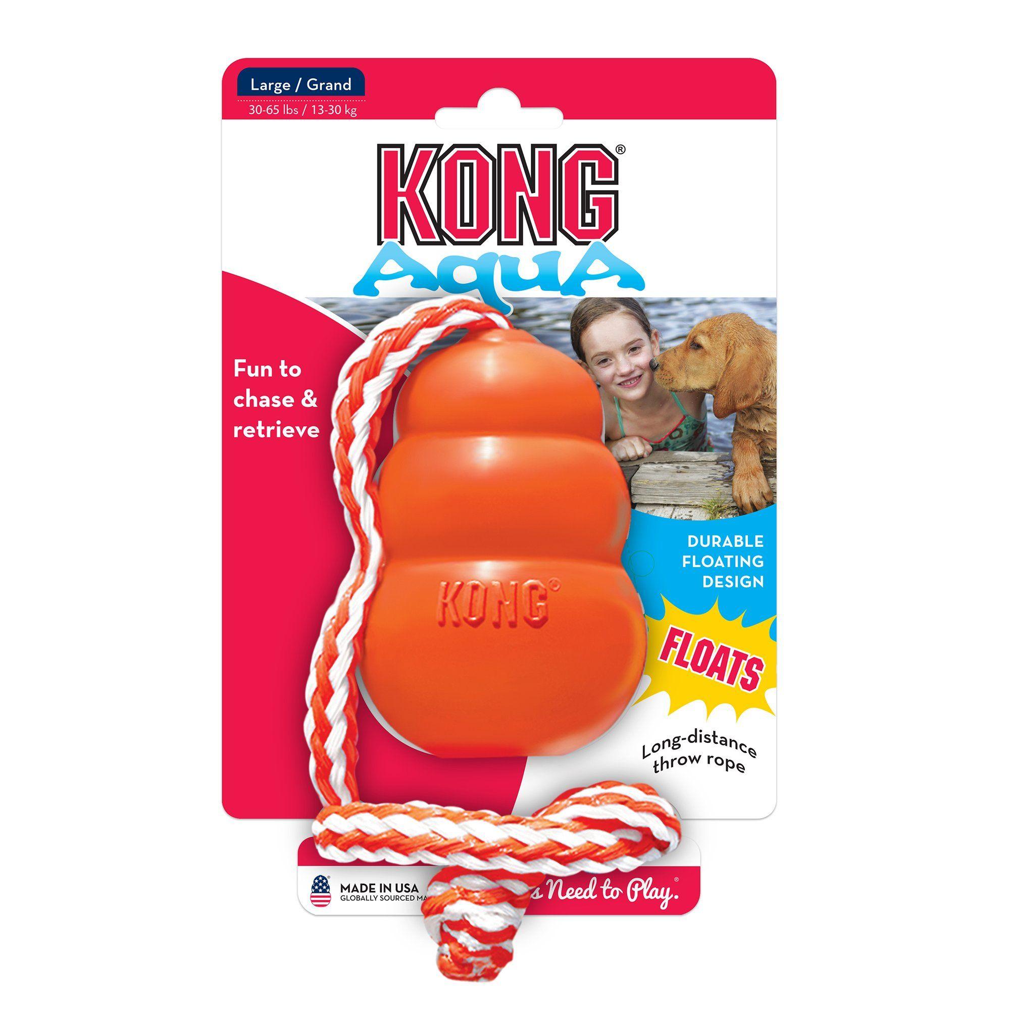 Kong Aqua Dog Toy Large Orange Kong Dog Toys Dog Toys Pet Toys