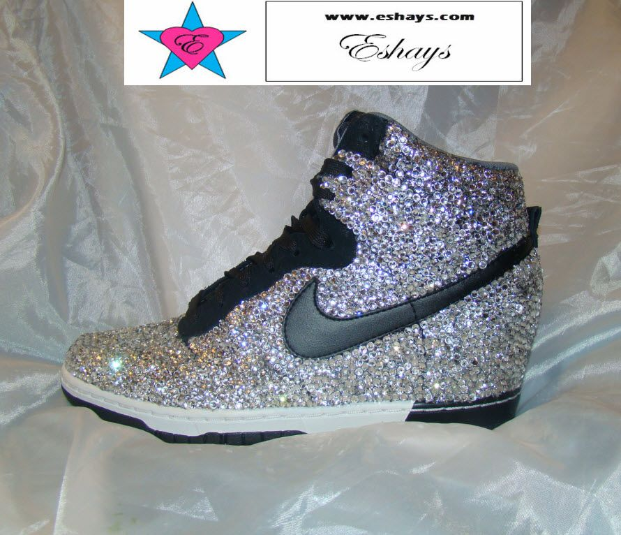 afc6b471903 Get your Rhinestone Nike Dunk Sky Hi Wedges on sale today. Bride Sneakers