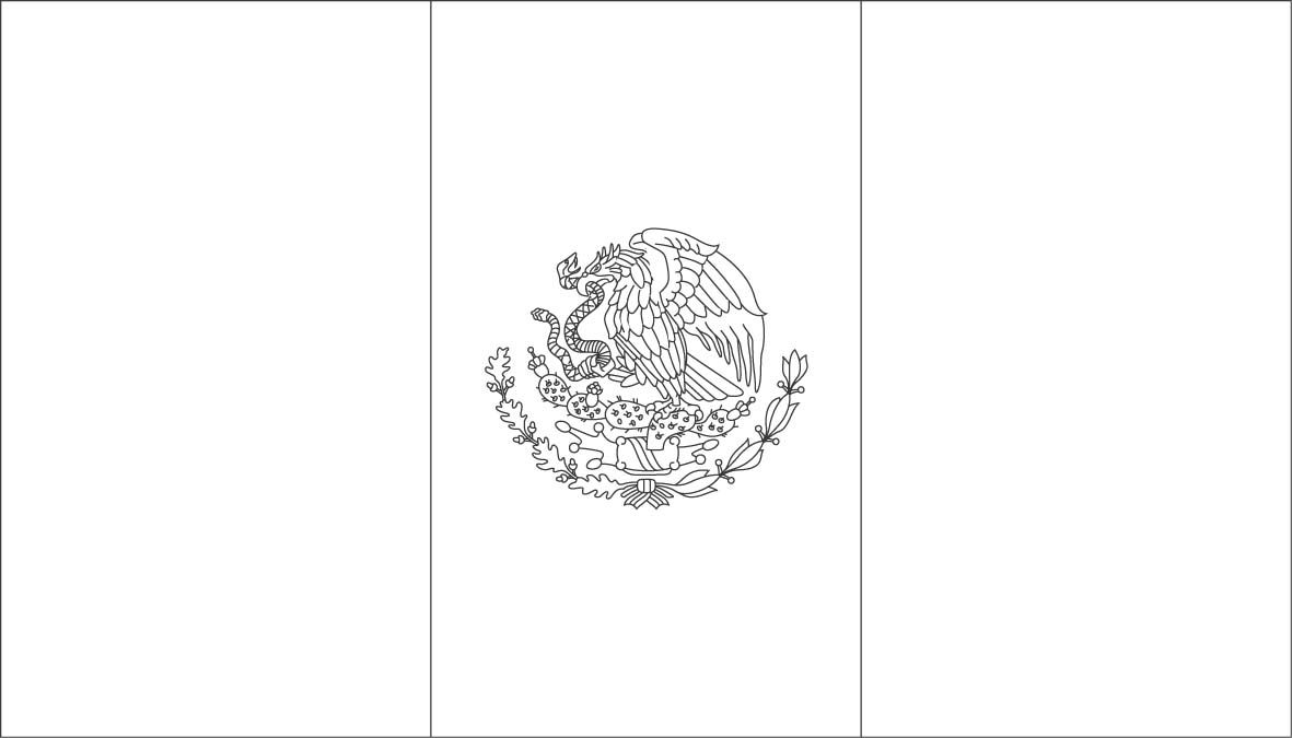 Printable State Country Flags To Color Mexican Flags Mexican
