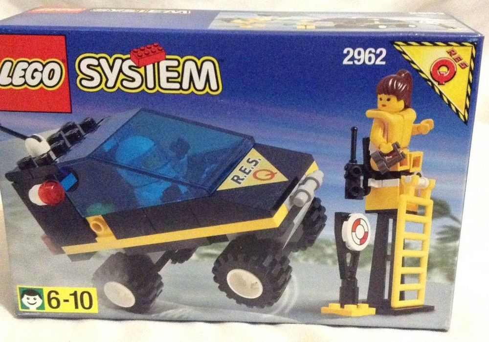 Res Q Lego Set 2962 Rare Vintage Sealed 90s Look Out Station Orv Plane Lego Vintage Lego Lego Lego Sets