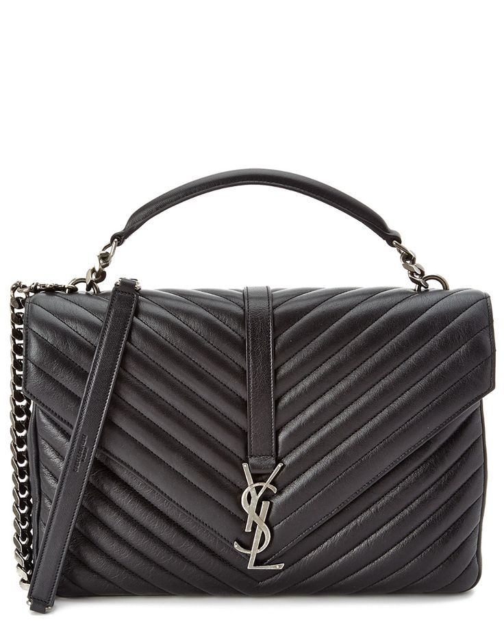 Saint Laurent Classic Large College Monogram Matelassé Leather Shoulder Bag  is on Rue. Shop it now. 8d210915f6dde