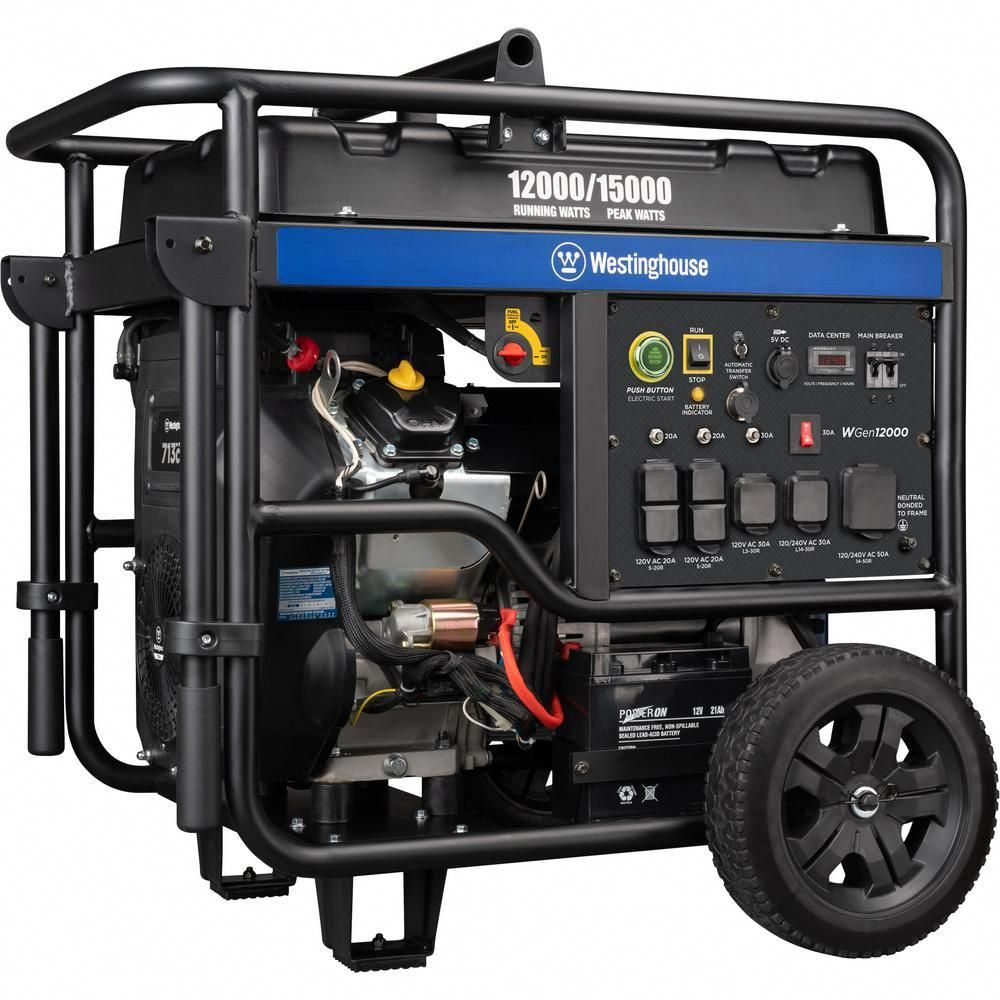 Westinghouse 12 000 Watt Gas Powered Ultra Duty Portable Generator With Remote Start And Transfer Switch Ready In 2020 Portable Generator Westinghouse Transfer Switch