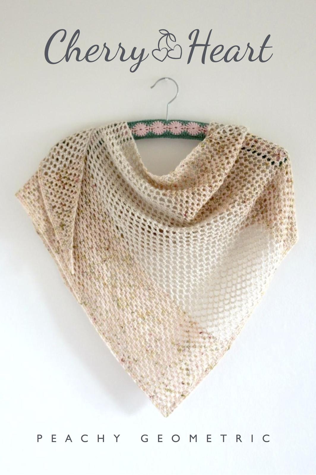 Peachy Geometric | Crochet accessories | Pinterest | Chal, Encaje de ...