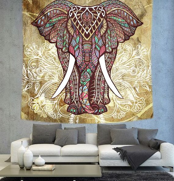 Elephant tapestry,Bohemian tapestry,Mandala tapestry,Boho decor ...