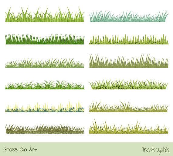 Horizontal book. Green grass clip art