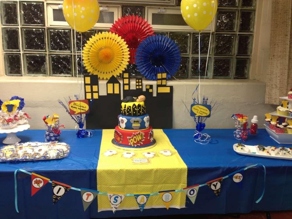 Superhero Baby Shower Party Ideas