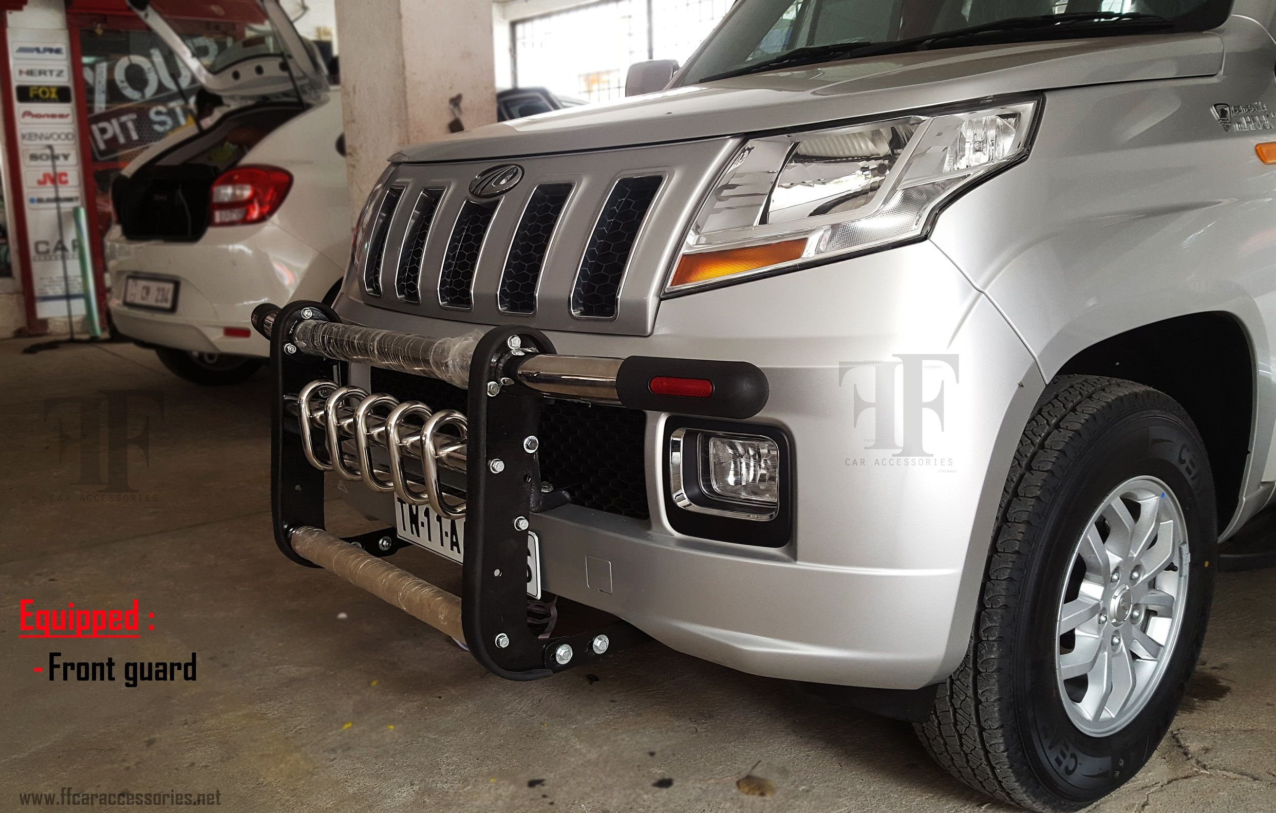 Century front guard installed on this TUV300 Car