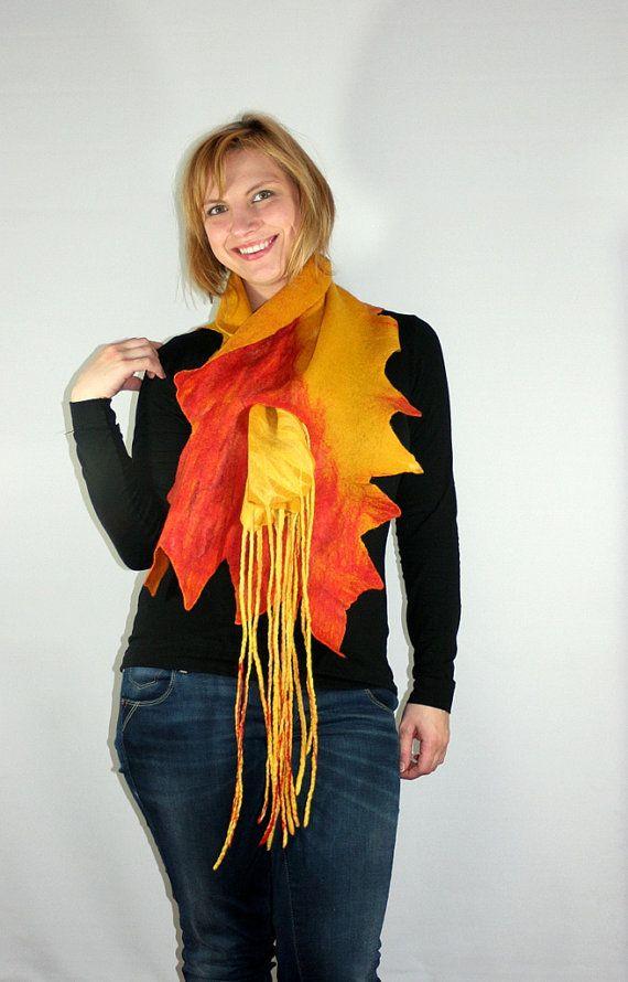 FELTED SCARF ECO scarf Nunofelt Scarf  Felt Scarf Art by Filtil, $70.00