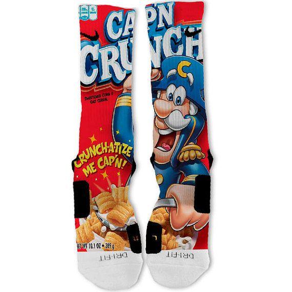 8355bf60b23 Captain Crunch Fast Shipping!! Nike Elite Socks Customized on Etsy ...