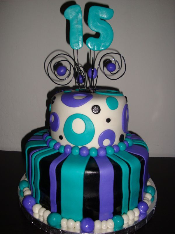 Wondrous Number 15 Birthday Cake 15Th Birthday Cakes Birthday Party Cake Personalised Birthday Cards Cominlily Jamesorg