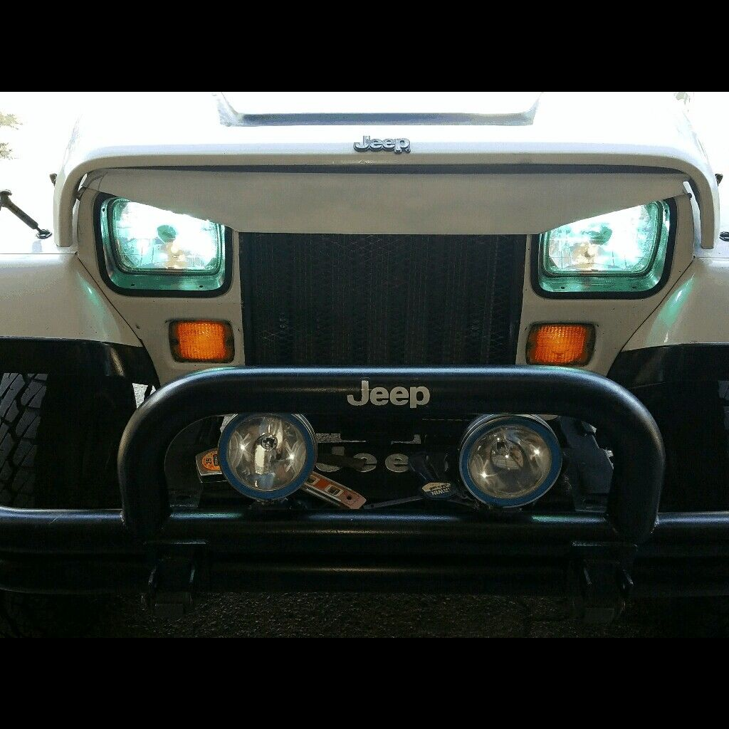 Diy Angry Eyes Jeep Wrangler Jeep Wrangler Accessories Diy Jeep Yj