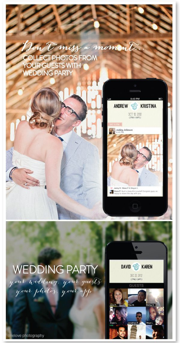 Wedding Photo App Puts Everyones Photos Into One Online Album As They Are Taken