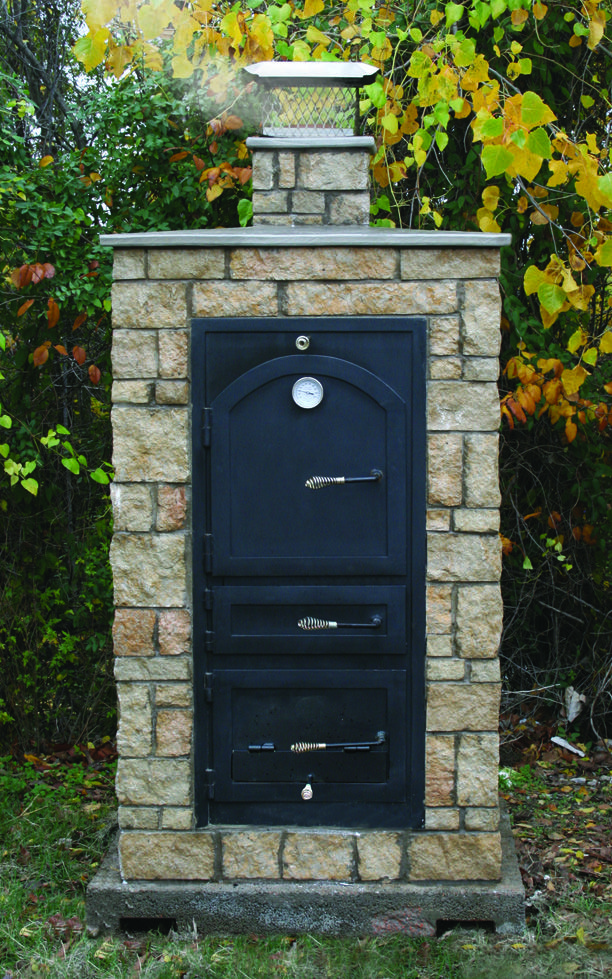 Michael Thronson Masonry Thin Stone Veneer Projects And: Little Pig™ Smoker In Natural Stone Veneer. This Smoker Is