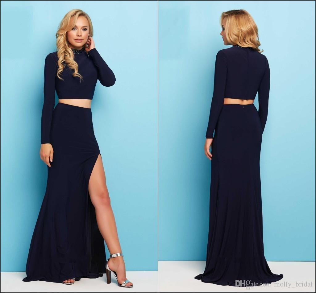 2016 Fall Winter Evening Dresses Split Dresses Evening Dresses From ...