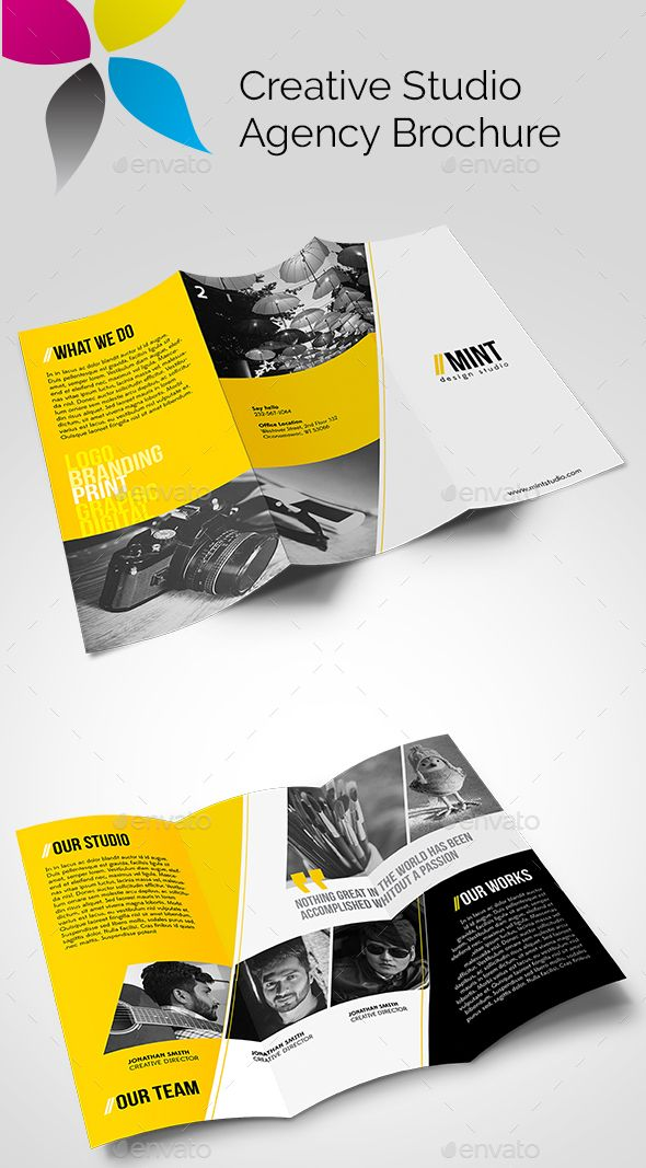 Creative Studio Agency Brochure Brochure template, Creative studio