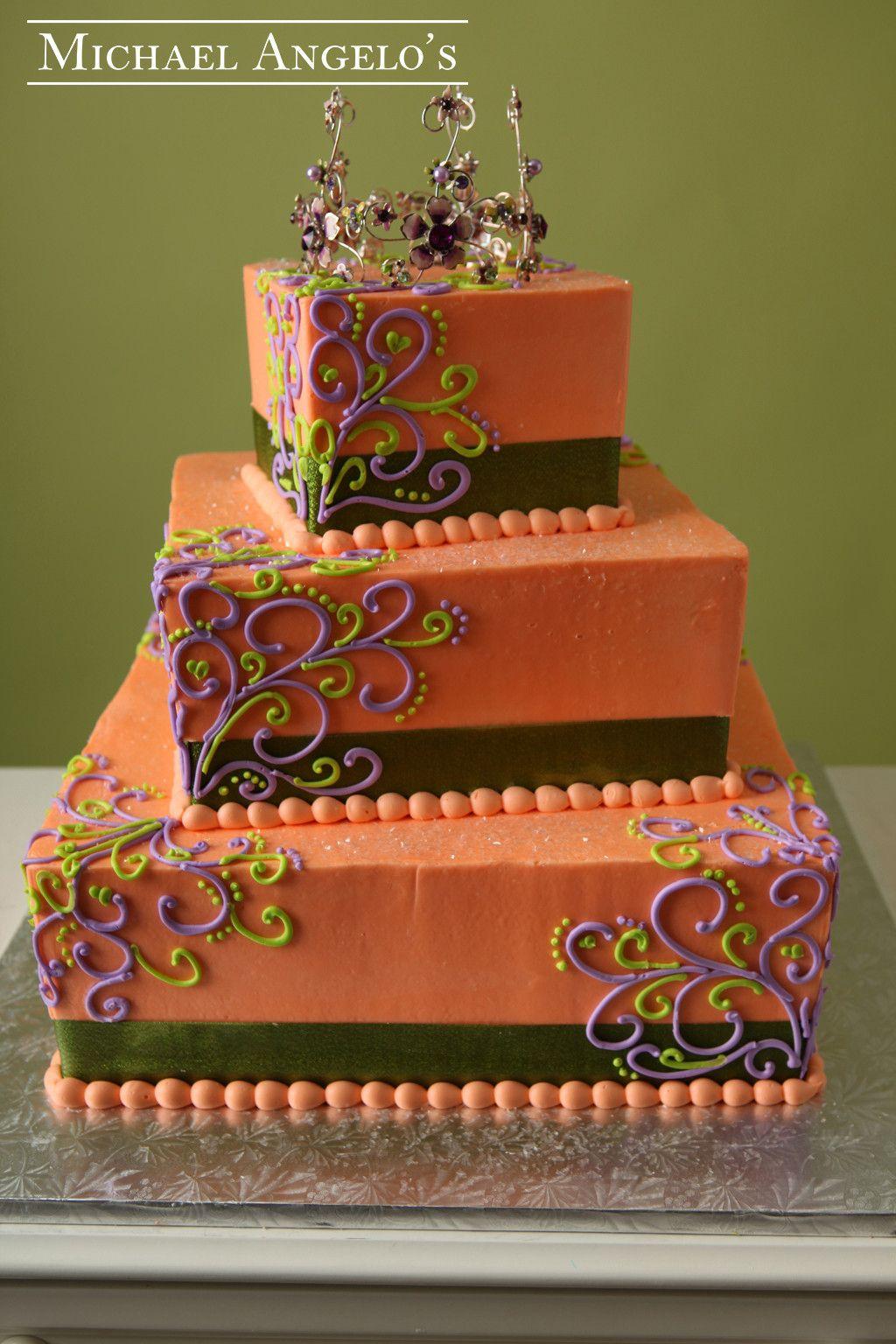 Orange & Swirls 87Ribbons Cake design inspiration