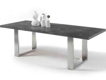 MCA Furniture Esstisch Stone Kufentisch Esszimmertisch Kufengestell
