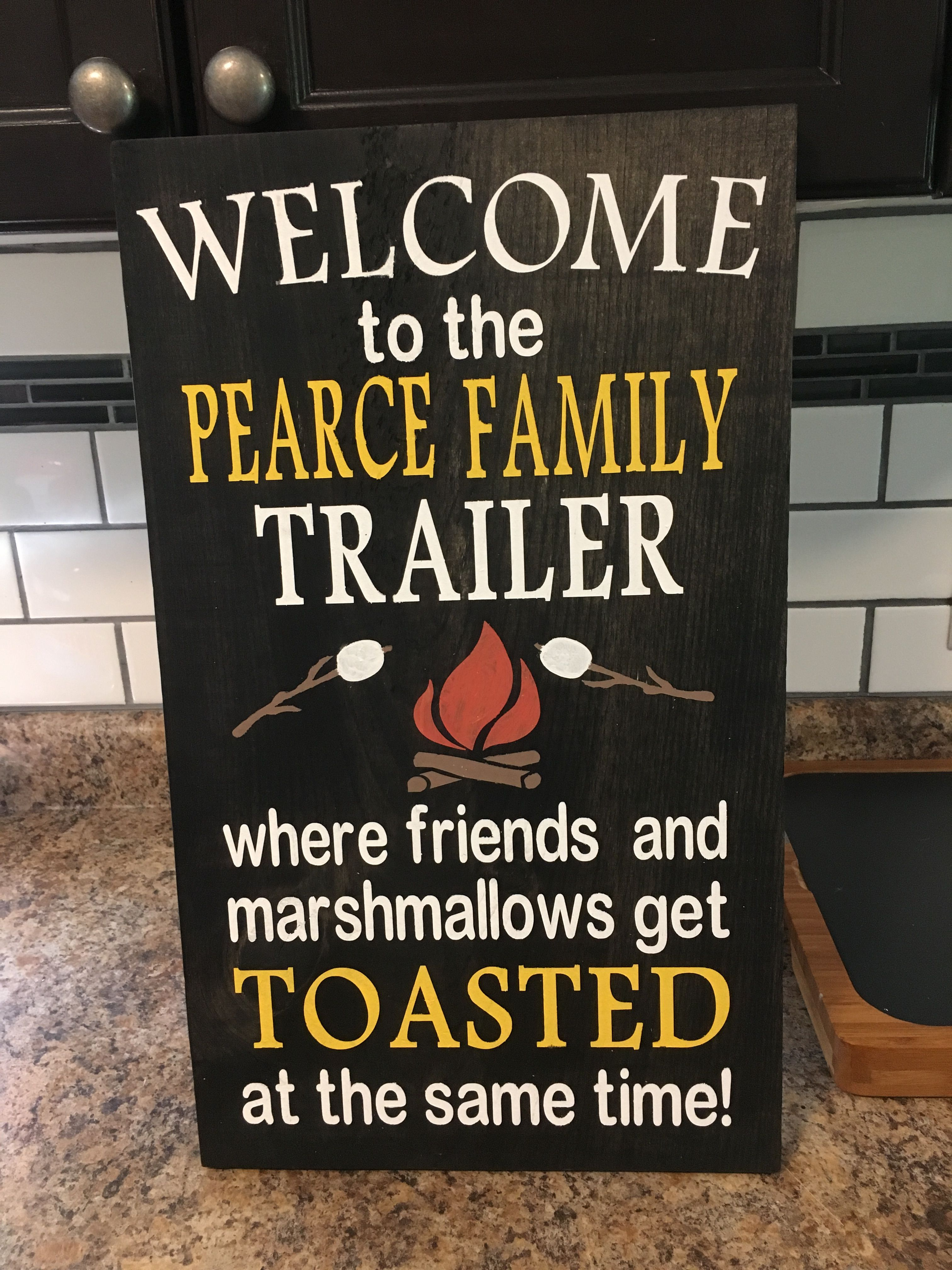 Wooden Trailer Sign Vinyl signs, sign, Porch signs