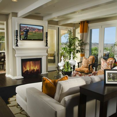 TV mounted above fireplace - Possibilities for Design Inc ...