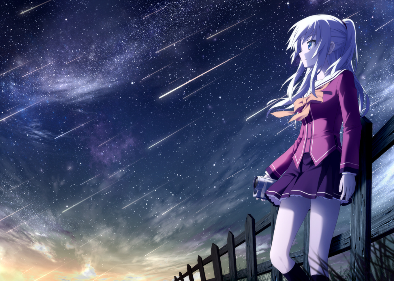 Nao Tomori Lonely Charlotte Anime girls Wallpaper HD 2015 anime