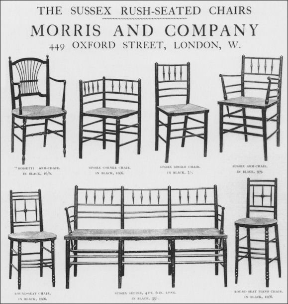 The Sussex Chair Page From The Morris Co Furniture Catalogue - William morris chairs