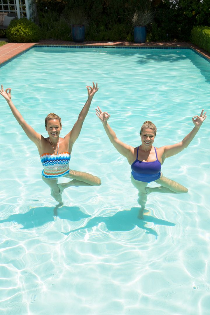Pool Yoga Pool workout, Water aerobics, Exercise