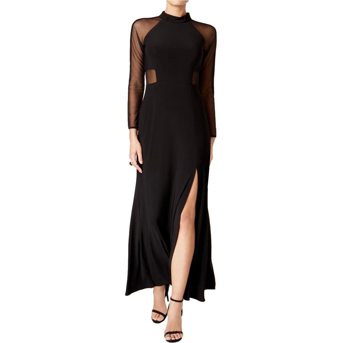 Night way womens petites mesh side slit evening dress products