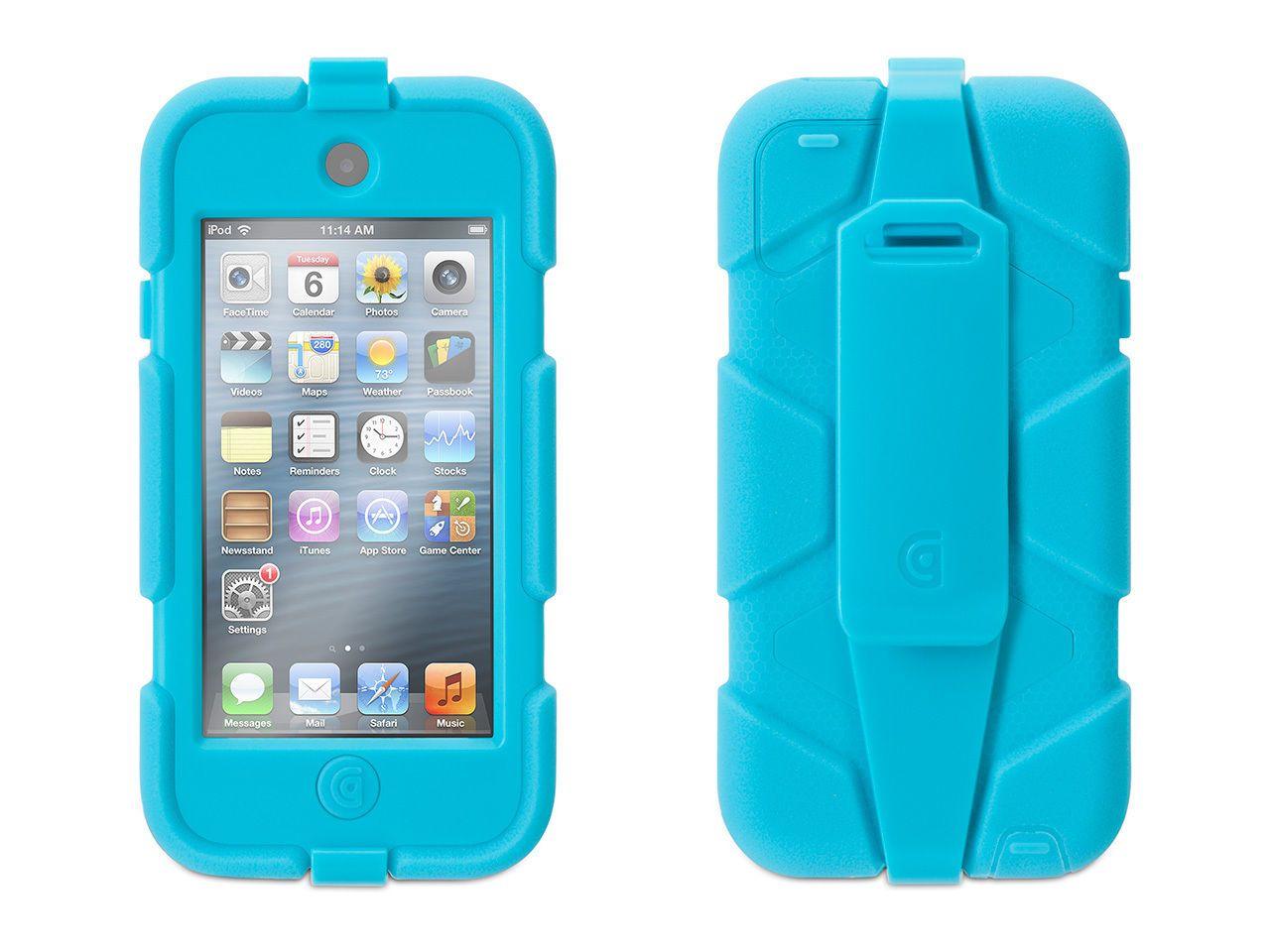 online retailer 2394c 73e6f Griffin iPod Touch 5/6th Gen Survivor Case + Belt Clip, Pool Blue ...
