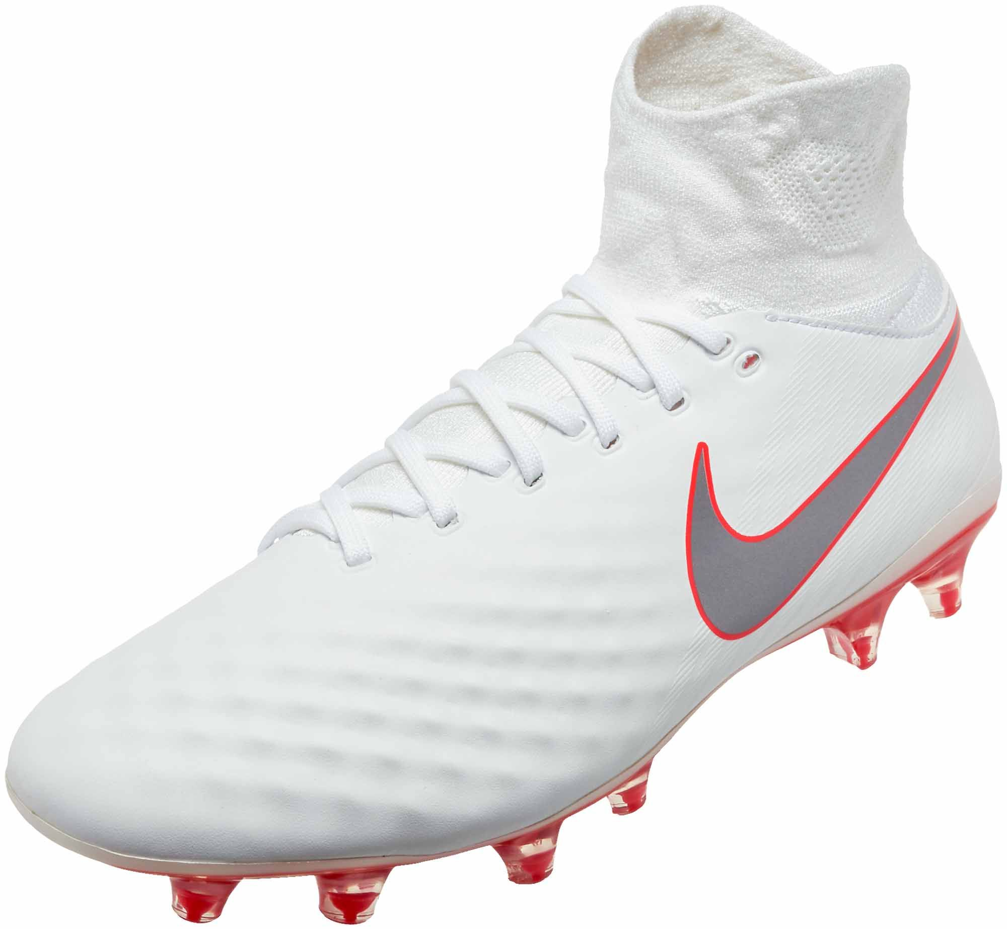 6ae970386 Nike Mercurial Vapor 12 Pro FG - White/Metallic Cool Grey/Total Orange -  SoccerPro