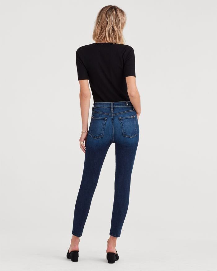 7 FOR ALL MANKIND Aubrey Super High Waist Ankle Skinny Jeans