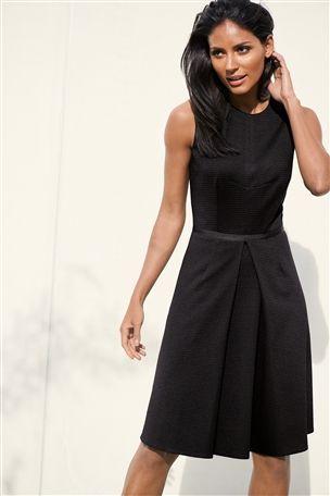 5ddde71dea Black Ribbed Dress $75 @ Next | Dresses | Dresses for work, Work ...