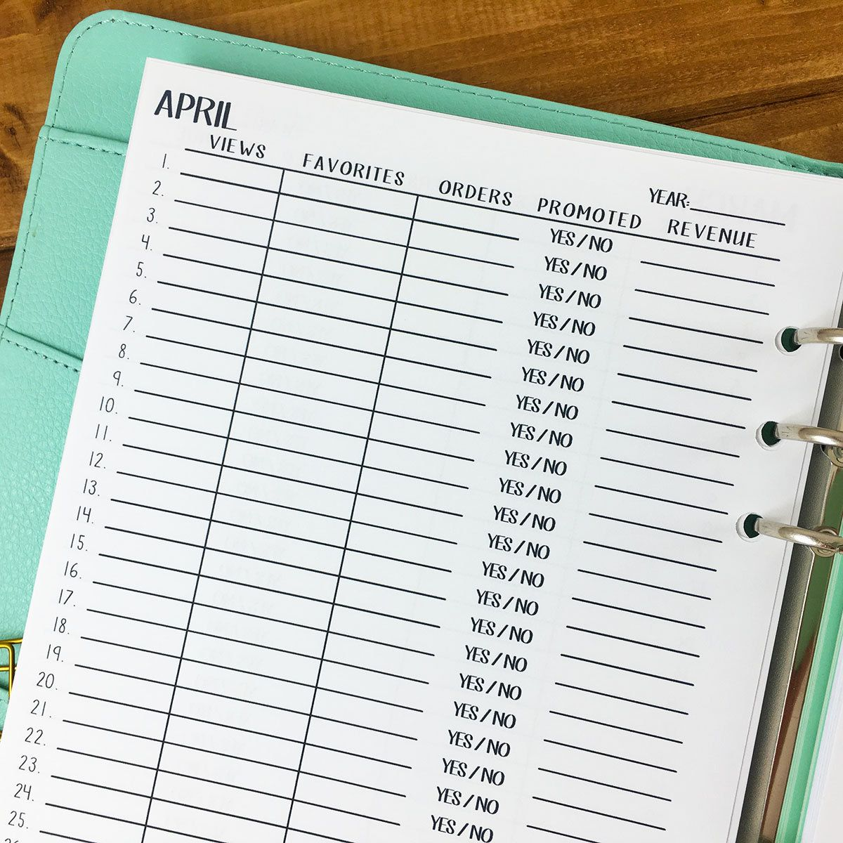 a5 etsy sales tracker 12 months bullet journals and etsy