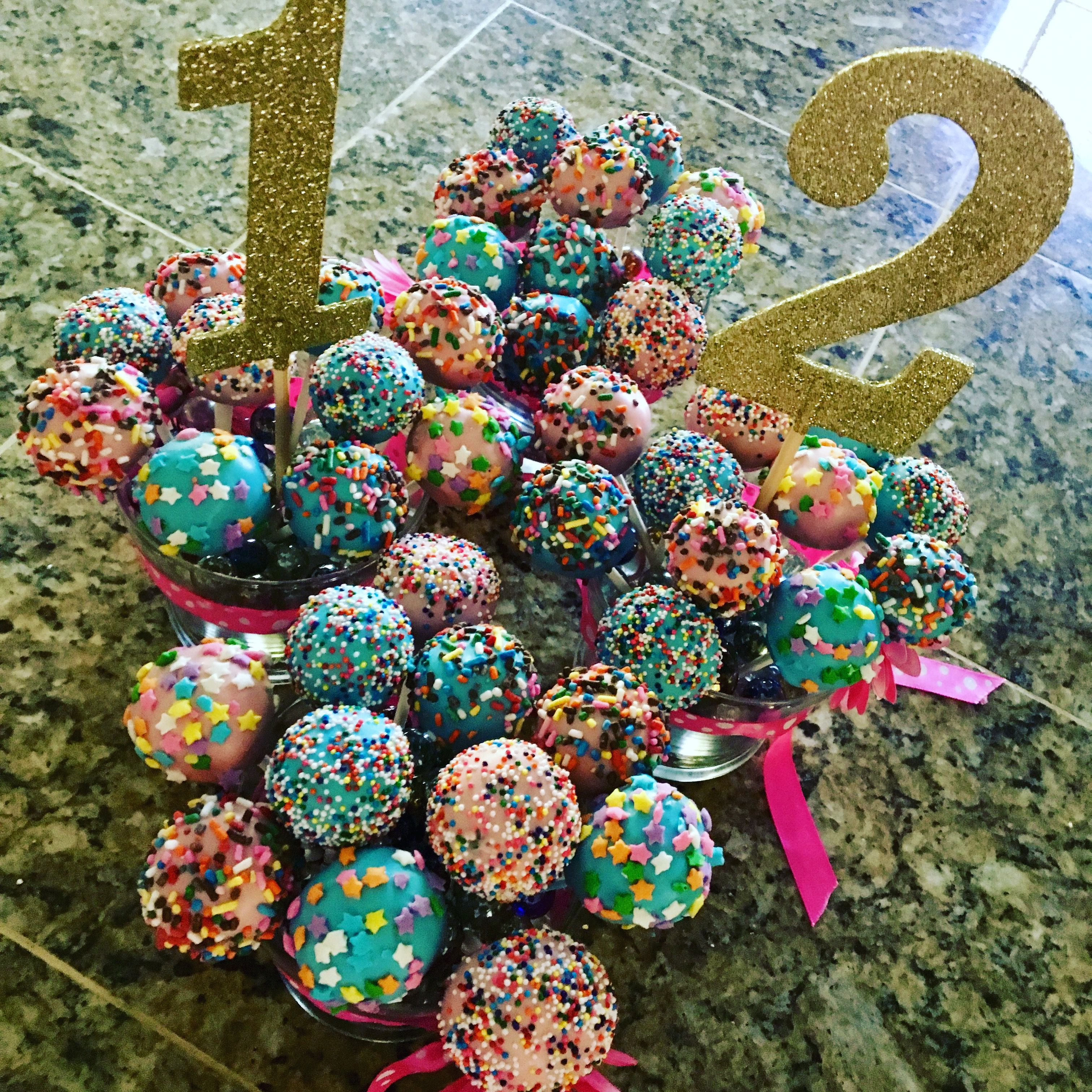 Chocolate funfetti cake pops with images funfetti