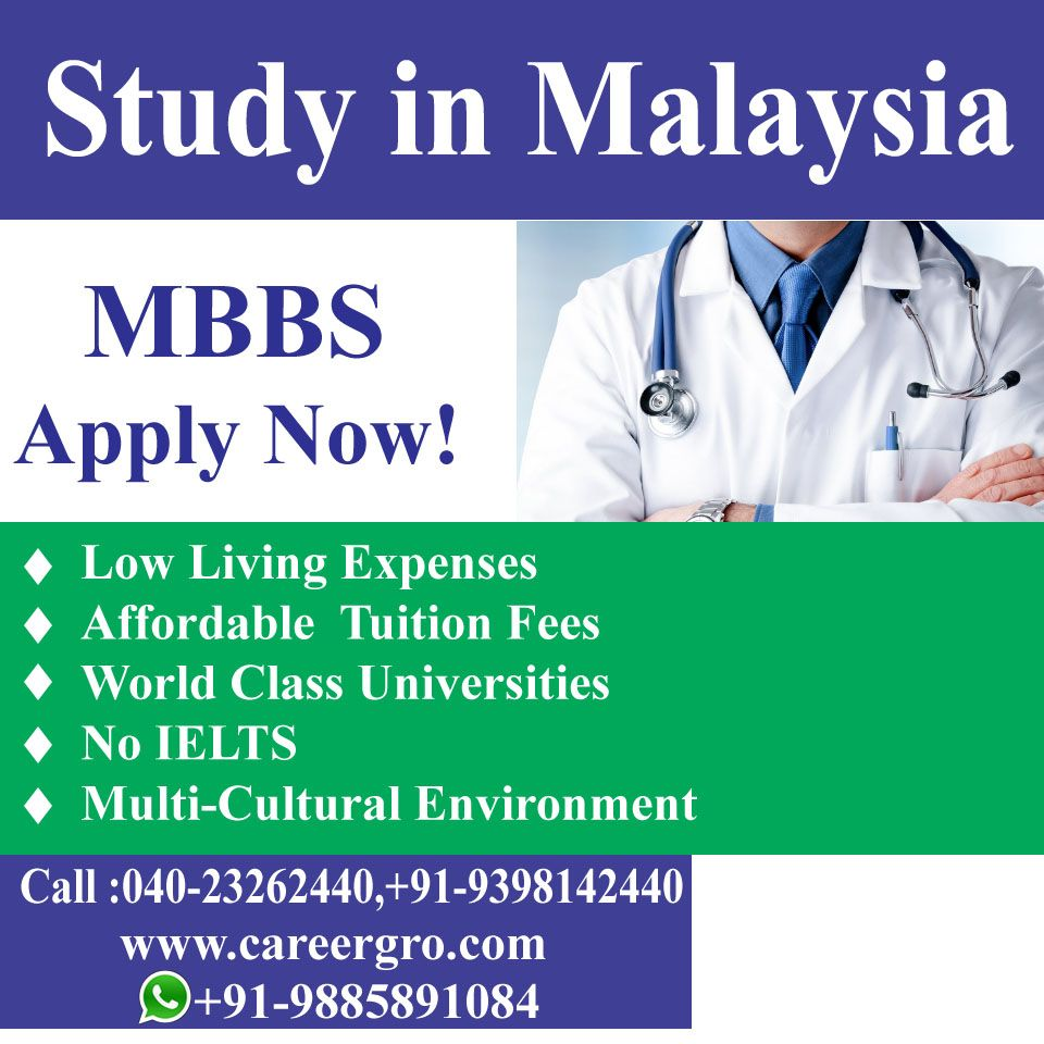 Study In Malaysia MBBS Low Living Expense NO IELTS