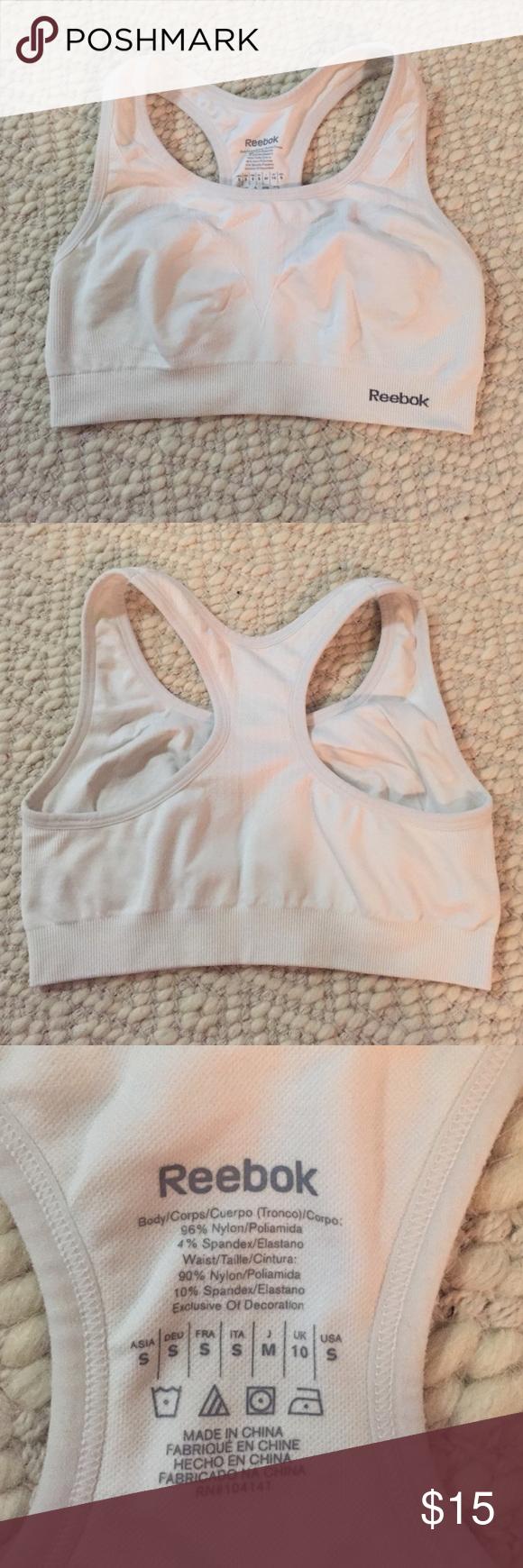 Reebok white sports bra Reebok white sports bra, halter back Reebok Intimates & Sleepwear Bras