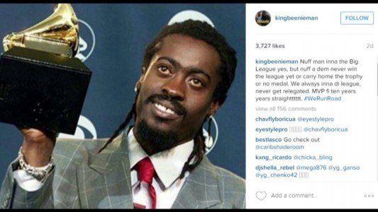 Beenie Man fire shots at Mavado on Instagram with his Grammy