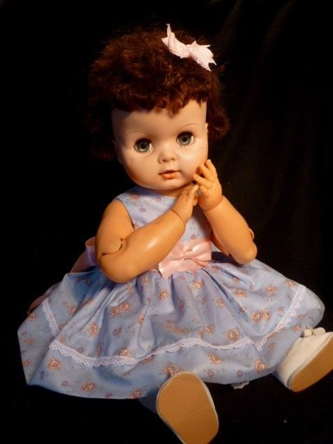Htf Vintage 1959 21 Uneeda Baby Doll Dollikin Articulated Fully 9